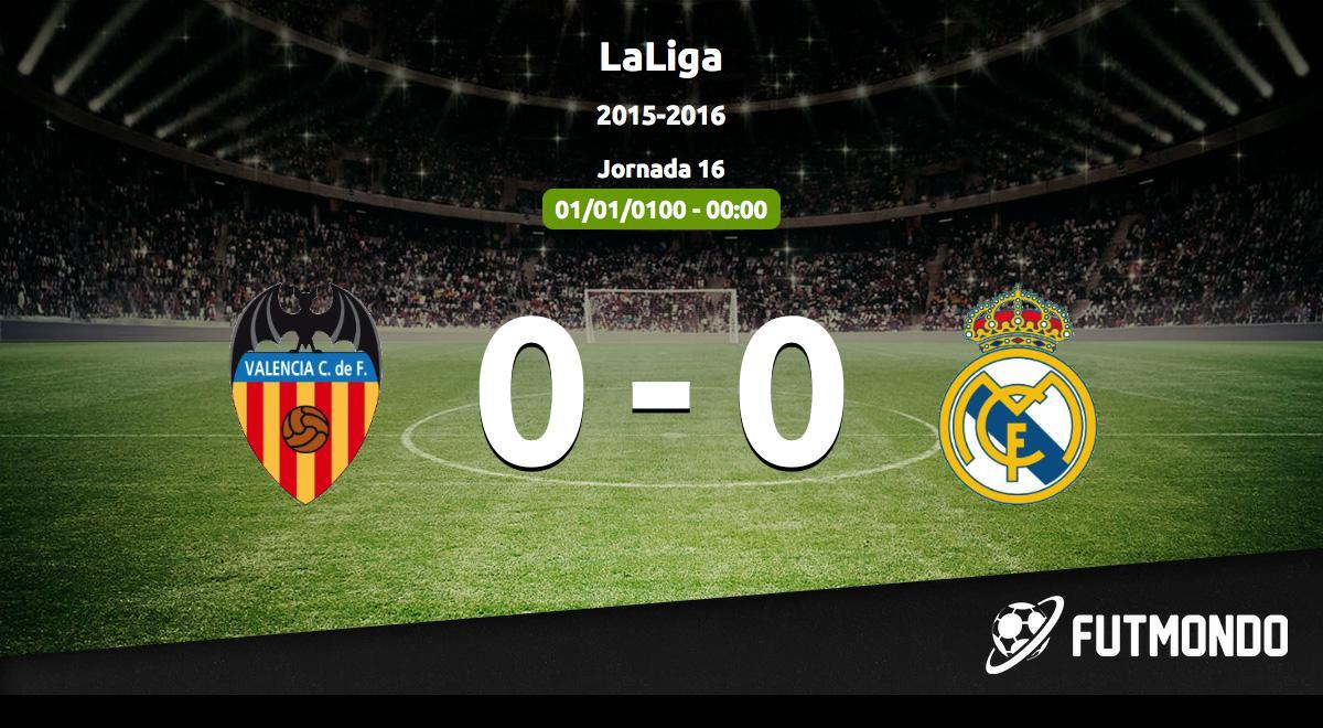 Partido aplazado Valencia - Real Madrid